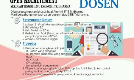 Open Recruitment Dosen